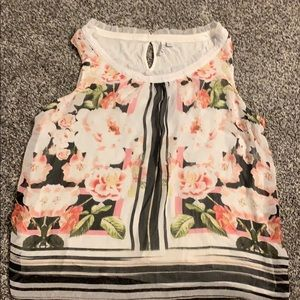 Elle flowered sleeveless blouse